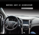 Steering Wheel Cover: Hyundai Leather cover