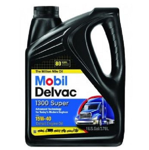 Engine Oil: Mobil Delvac™ 1300 Super 15W-40 High Perfomance Diesel Engine Oil - 1 Gal (3.78L)