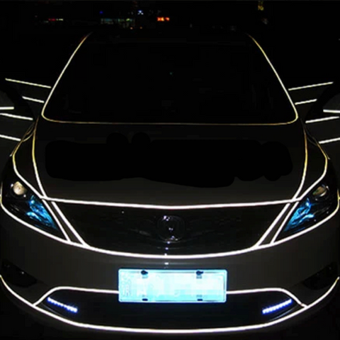 Car Decal: Stylish Reflective Tape Stickers