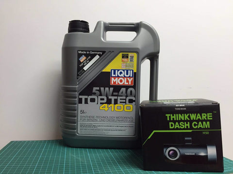 Servicing Package: Liqui Moly 4100 Top Tec Basic Servicing Package + Thinkware Dash Cam H50