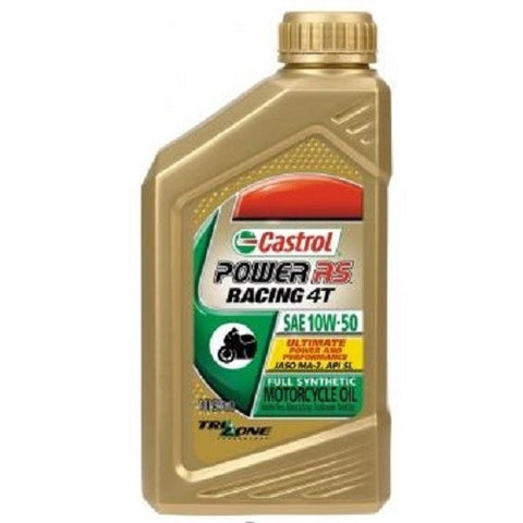 Engine Oil: Castrol Power RS™ Racing 4T 10W50 Full Synthetic Motorcycle Oil - 1 Quart