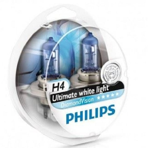 Headlight Bulb: PHILIPS Diamond Vision H4 (Twin)