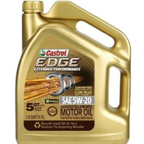 Engine Oil: Castrol EDGE 5W-20 Titanium Extended Performance - 5Quart