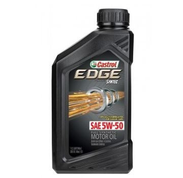 Engine Oil: Castrol EDGE 5W-50 - 1 qt (946ml)