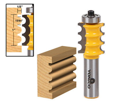 Triple Bead/ Column Molding Router Bit - 16159