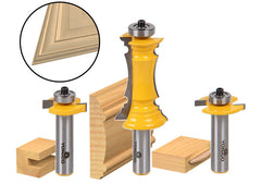 Mitered Door Router Bit Set- Frames & Molding Bit - Yonico 12230