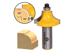 "Round Over Beading Edging Router Bit - 3/8"" Radius - 1/2"" Shank - Yonico 13174"