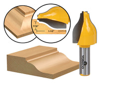 "Panel Raiser Router Bit - Vertical - Ogee Bead - 1/2"" Shank - Yonico 12148"