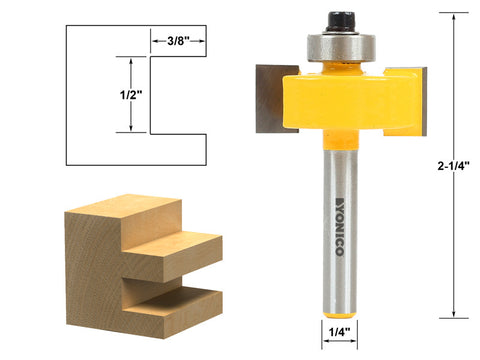 "1/2"" Slot Slotting & Rabbeting Router Bit - 1/4"" Shank - Yonico 14187q"