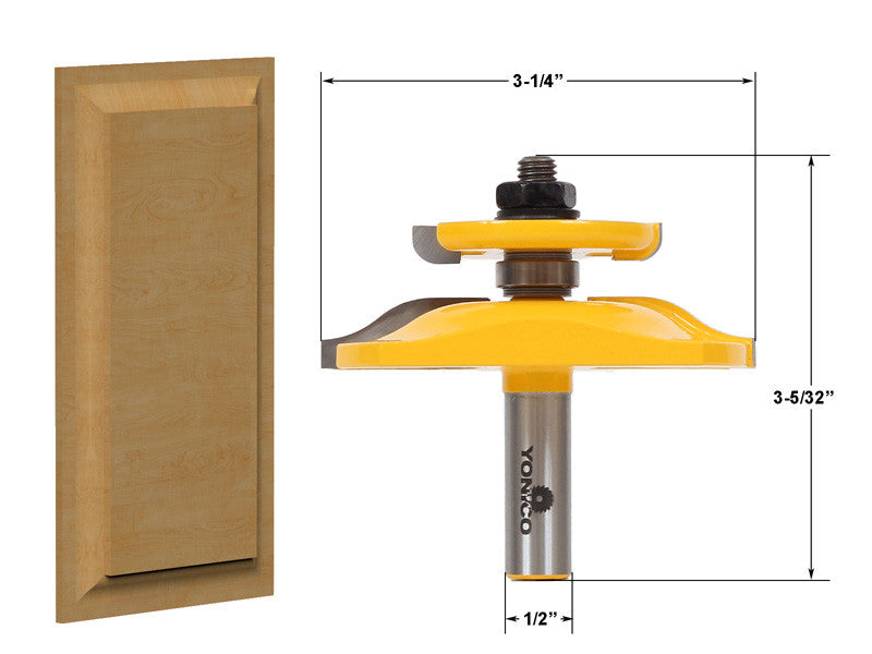 Raised Panel Router Bit with Backcutter - Ogee - 12143