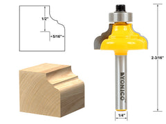"Classical Ogee Edging and Molding Router Bit Small - 1/4"" Shank - Yonico 13984q"