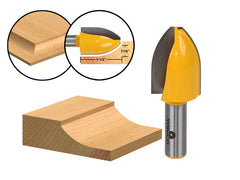 "Panel Raiser Router Bit - Vertical - Cove - 1/2"" Shank - Yonico 12145"