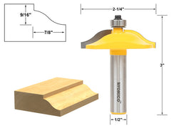 "Small Door Panel & Baseboard Ogee Molding Router Bit - 1/2"" Shank -Yonico 12132"
