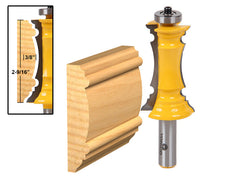 "Mitered Door Molding & Chair Rail Router Bit - 1/2"" Shank - Yonico 16166"