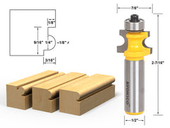 "Bullnose Beading Router Bit 1/8""r - 1/4"" bead - 1/2"" Shank - Yonico 13191"