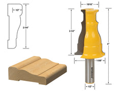 "Door & Window Casing Router Bit - 1/2"" Shank - Yonico 16122"