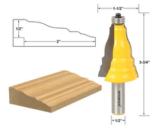 "Door & Window Casing Router Bit - 1/2"" Shank - Yonico 16123"