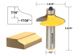"Drawer & Cabinet Door Front Edging Med. Ogee Router Bit-1/2"" Shank- Yonico 12162"