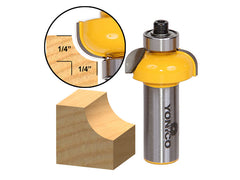 "Cove Edging and Molding Router Bit - 1/4"" Radius - 1/2"" Shank - Yonico 13152"