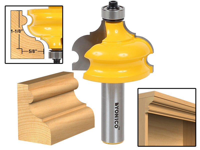 "Classical & Bead Molding & Edging Router Bit - 1/2"" Shank - Yonico 16127"