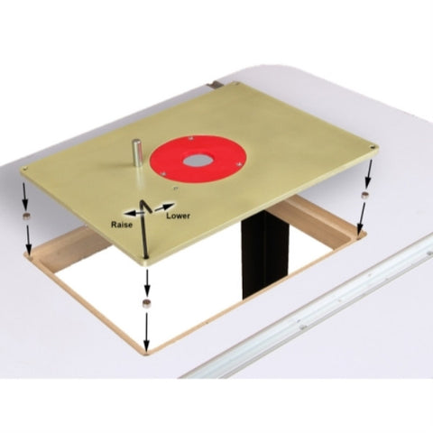 Deluxe aluminum router table mounting plate 12l x 9w yonico deluxe aluminum router table mounting plate 12l x 9w yonico keyboard keysfo