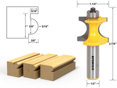 "Bullnose Beading Router Bit 5/16""r - 5/8"" bead - 1/2"" Shank - Yonico 13194"