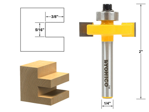 "5/16"" Slot Slotting & Rabbeting Router Bit - 1/4"" Shank - Yonico 14185q"