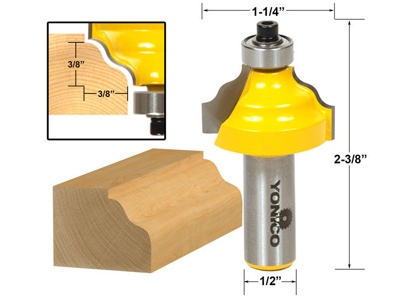 "Wavy Edge Molding Router Bit - 1/2"" Shank - Yonico 13125"