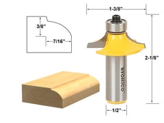 "Drawer & Cabinet Door Front Edging Thumbnail Router Bit-1/2"" Shank- Yonico 12161"
