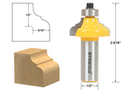"Classical Ogee Edging and Molding Router Bit Small - 1/2"" Shank - Yonico 13984"