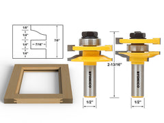 Rail & stile Router Bit Set- Matched 2 Bit LARGE  Ogee - 12236