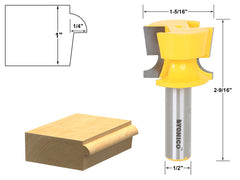 "Cabinet Door Lip With Tapered Back Rabbet Router Bit - 1/2"" Shank - Yonico 13928"