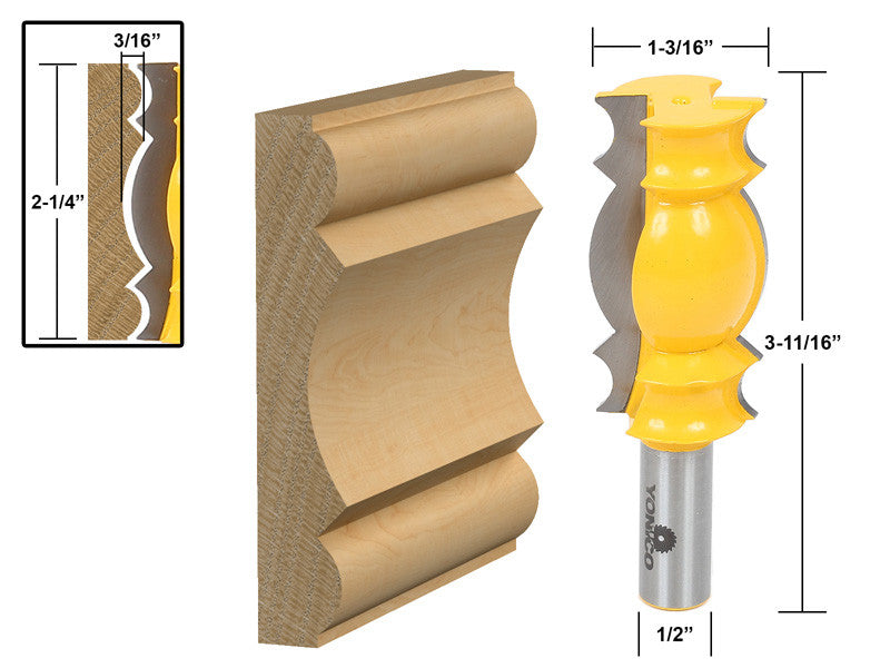 Large Crown Molding Router Bit - 16146