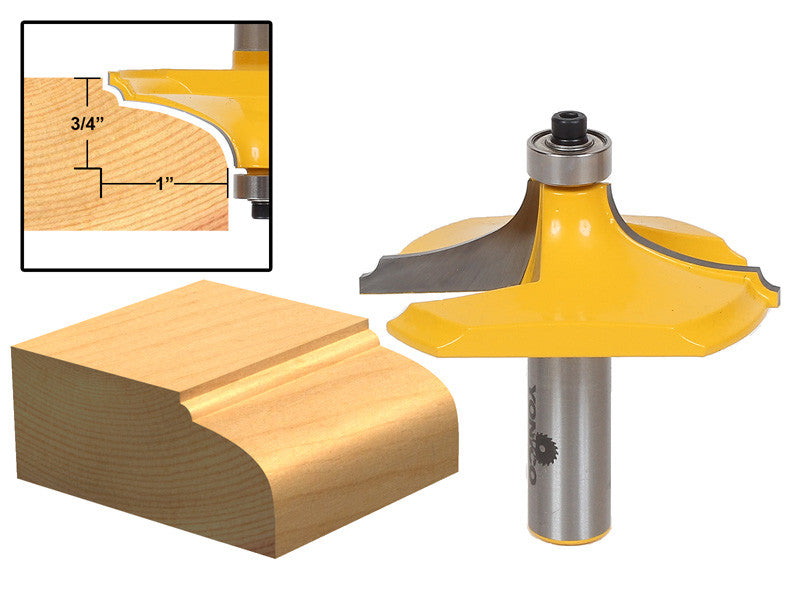"Thumbnail with Bead Table Edge Router Bit - 1/2"" Shank - Yonico 13142"