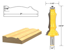 "Door & Window Casing Router Bit - 1/2"" Shank - Yonico 16124"