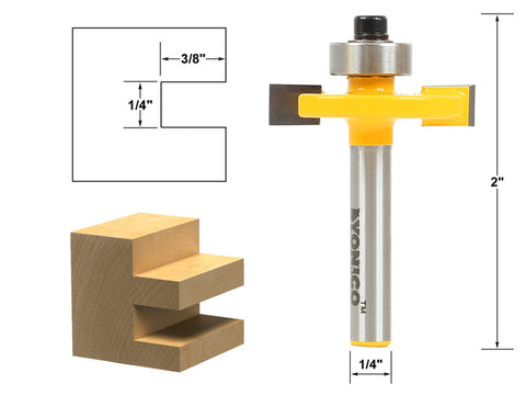 "1/4"" Slot Slotting & Rabbeting Router Bit - 1/4"" Shank - Yonico 14184q"