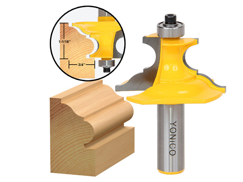 "Pedestal Base & Small Furniture Molding Router Bit - 1/2"" Shank - Yonico 16157"
