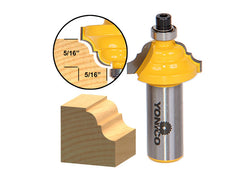 "Double Roman Ogee Edging Router Bit - Small - 1/2"" Shank - Yonico 13122"