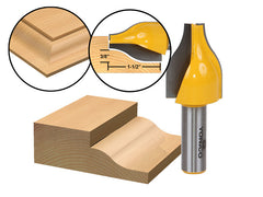 "Panel Raiser Router Bit - Vertical -  Ogee - 1/2"" Shank - Yonico 12147"