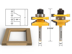 "Rail and Stile Router Bits - 2 Bit Standard Ogee - 1/4"" Shank - Yonico 12243q"