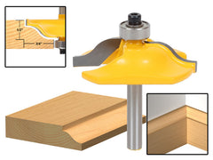 "Small Door Panel & Baseboard Ogee Molding Router Bit - 1/4"" Shank -Yonico 12132q"