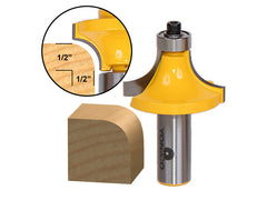 "Round Over Edging Router Bit - 1/2"" Radius - 1/2"" Shank - Yonico 13166"