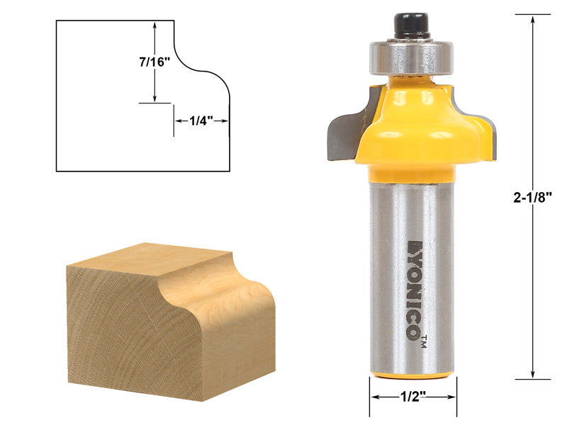 "Ogee Edging and Molding Router Bit - Small - 1/2"" Shank - Yonico 13144"