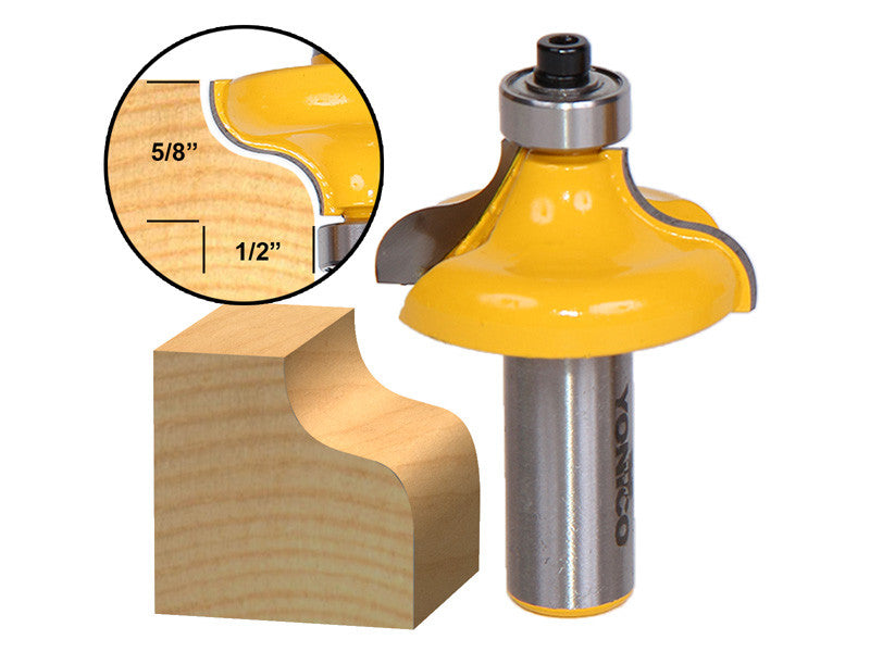 "Ogee Edging and Molding Router Bit - Large - 1/2"" Shank - Yonico 13148"