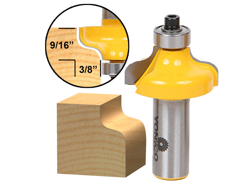 "Ogee Edging and Molding Router Bit - Medium - 1/2"" Shank - Yonico 13146"