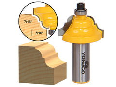 "Double Roman Ogee Edging Router Bit - Medium - 1/2"" Shank - Yonico 13123"