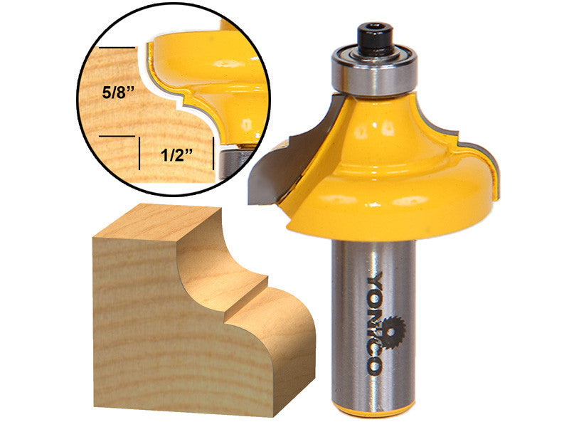 "Classical Ogee Edging and Molding Router Bit Large - 1/2"" Shank - Yonico 13186"