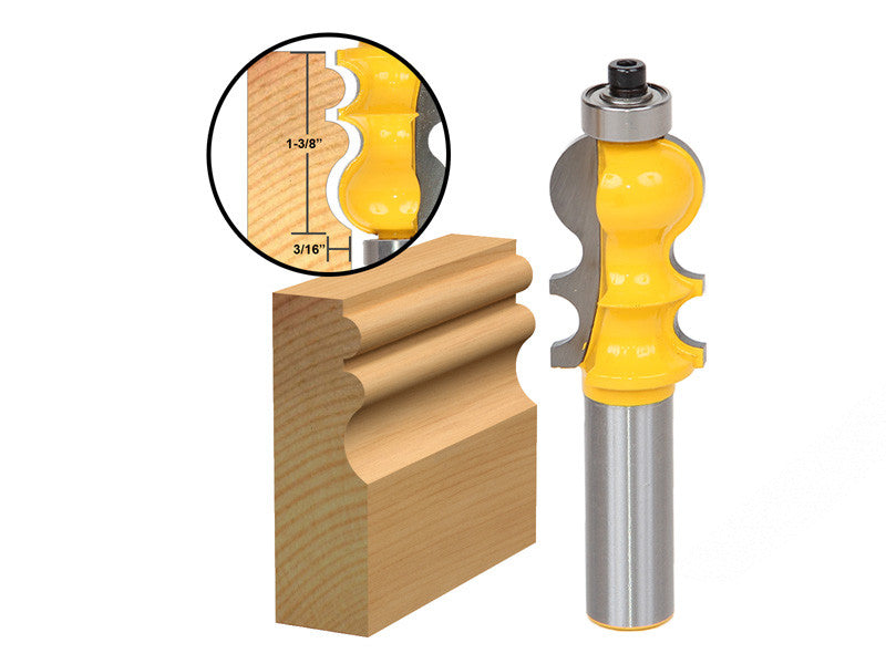 "Casing & Base Molding Router Bit - 1/2"" Shank - Yonico 16134"