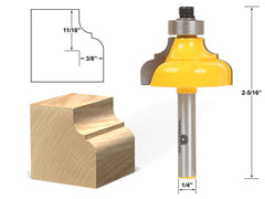 "Classical Ogee Edging and Molding Router Bit Medium - 1/4"" Shank - Yonico 13185q"