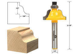 "Roman Ogee Edging and Molding Router Bit - Small - 1/4"" Shank - Yonico 13182q"